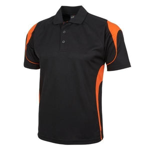 Kids Bell Polo-Black/Orange