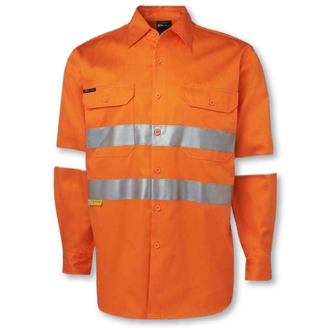 Image of Long Sleeve 190gsm Shirt with 3M Tape - General Safety NZ Limited