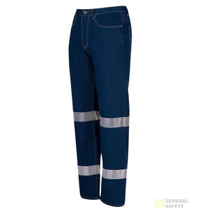Men's 100% Heavy Duty Cotton Jeans with 3M Tape - General Safety NZ Limited