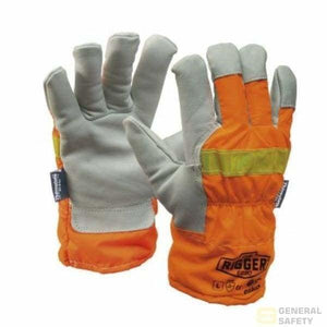 Reflective Riggers Glove With 3M Thinsulate Large