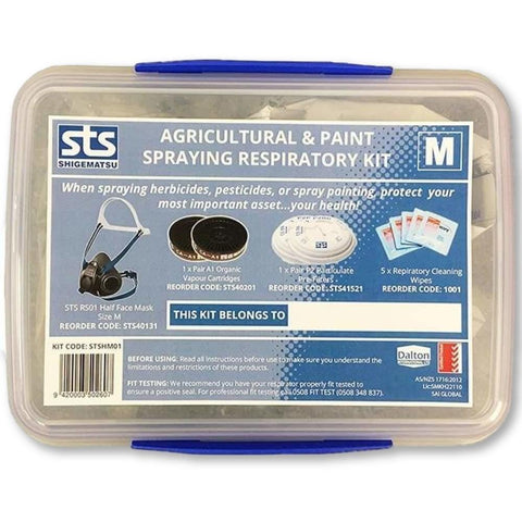 Image of Shigematsu Half Mask (RS01) - Paint and Agri Respirator Kit - General Safety NZ Limited