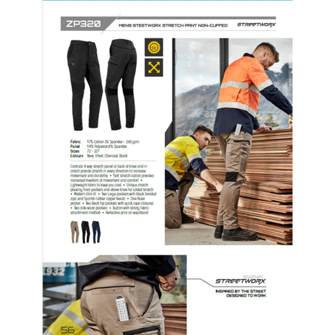 Image of StreetWorx Stretch Pant - Non Cuffed