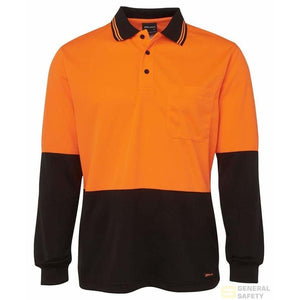 Traditional Long Sleeve High Vis Polo - General Safety NZ Limited