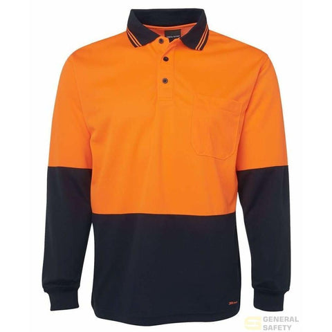 Image of Traditional Long Sleeve High Vis Polo - General Safety NZ Limited