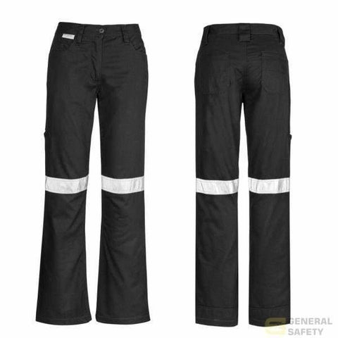 Image of Womans Taped Utility Pants 8 / Black Long