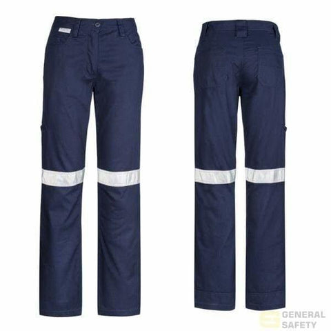 Image of Womans Taped Utility Pants 8 / Navy Long