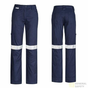 Womans Taped Utility Pants 8 / Navy Long