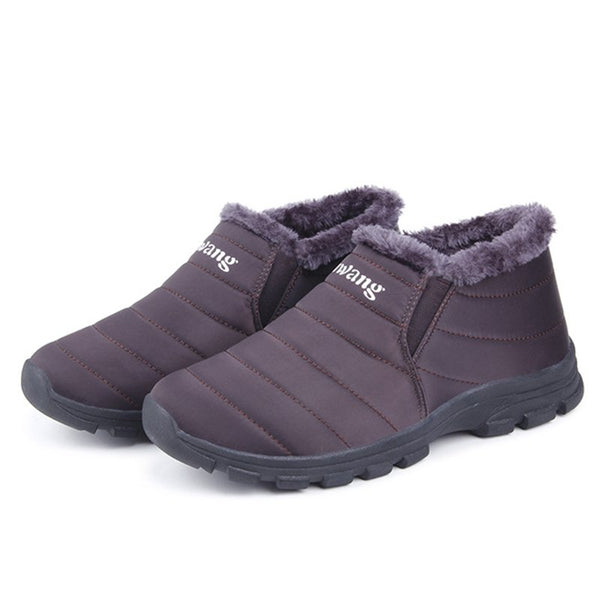 Waterproof Cloth Fur Lining Boots