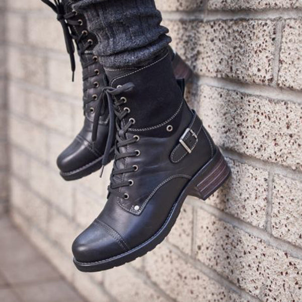 Women Comfortable Outdoor Boots Casual Zipper Boots