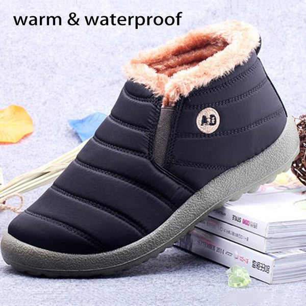 Waterproof Cloth Unisex Slip On Casual Boots