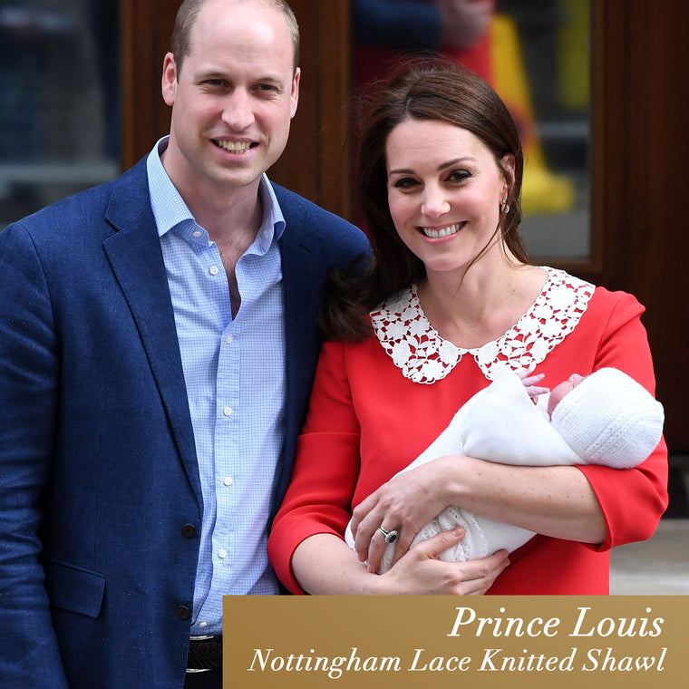 Prince Louis Shawl - Nottingham Lace Knitted Shawl by G H Hurt and Son