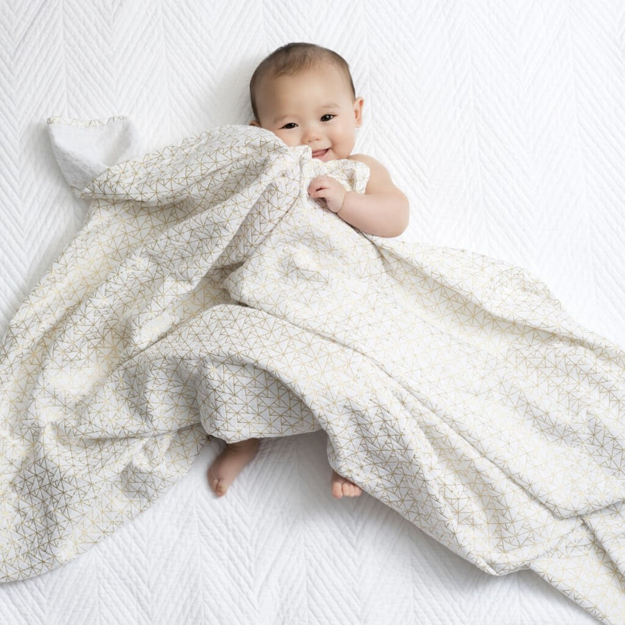 Metallic Gold Deco - Swaddle (3 Pack) by Aden and Anais