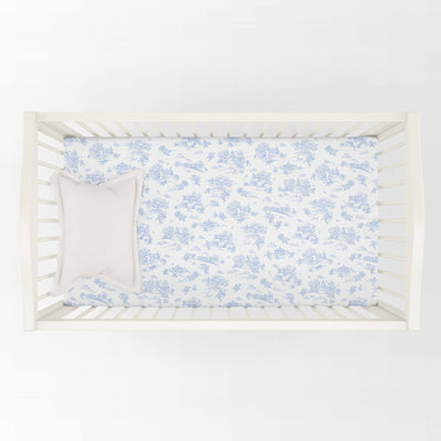 Storyland Blue - Cot Sheet by Maison Nola