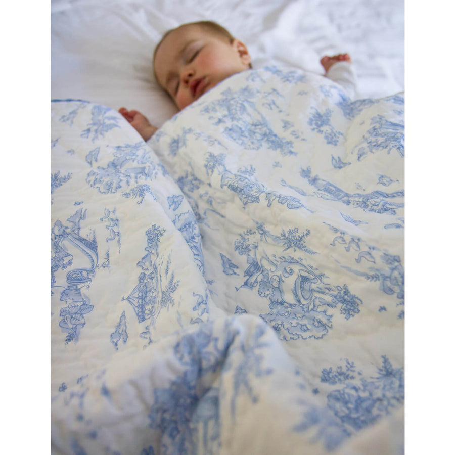 Storyland Blue - Baby Quilt by Maison Nola