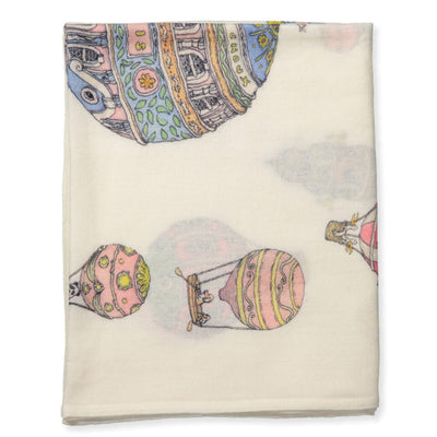 Hot Air Balloons - Cashmire Blanket by Atelier Choux