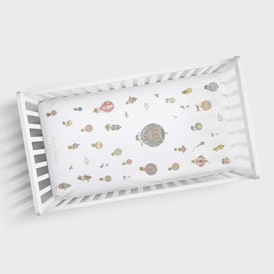 Hot Air Balloons - Cot Sheet by Atelier Choux