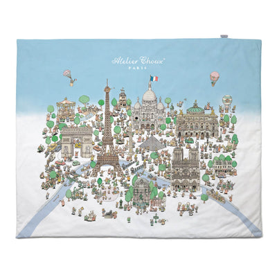 Paris and Carousel - Quilt Blanket by Atelier Choux