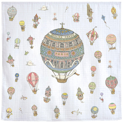 Hot Air Balloons - Swaddle (Carré) by Atelier Choux