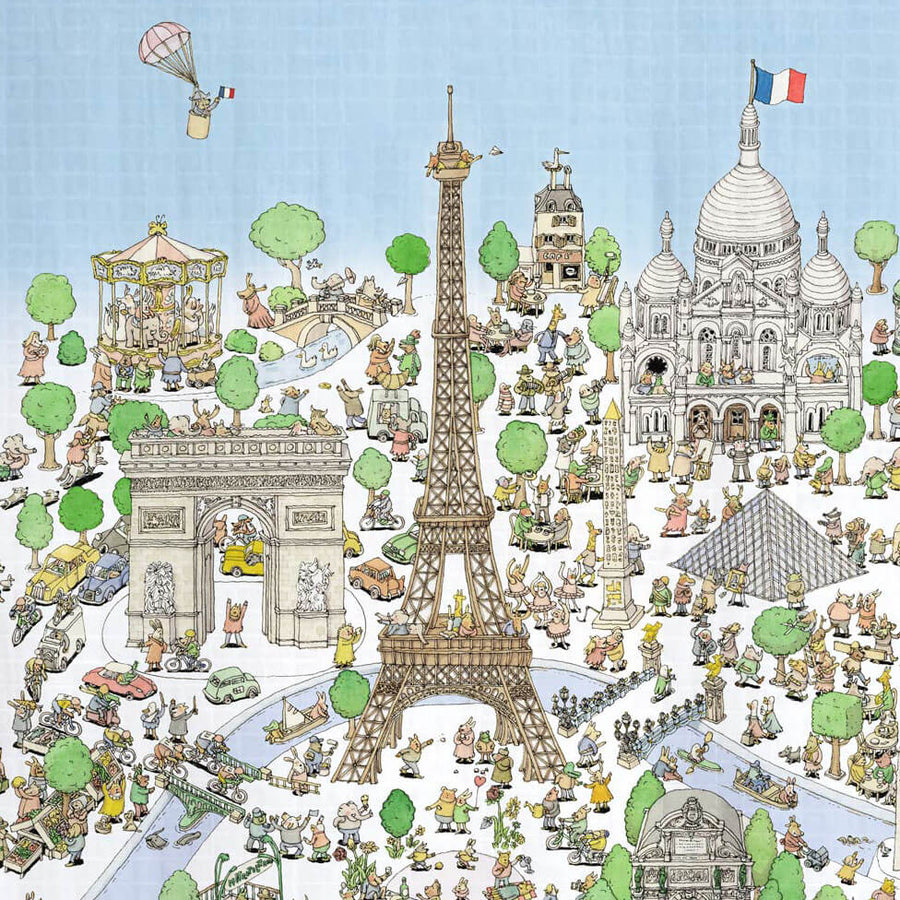 Paris - Swaddle (Carré) by Atelier Choux