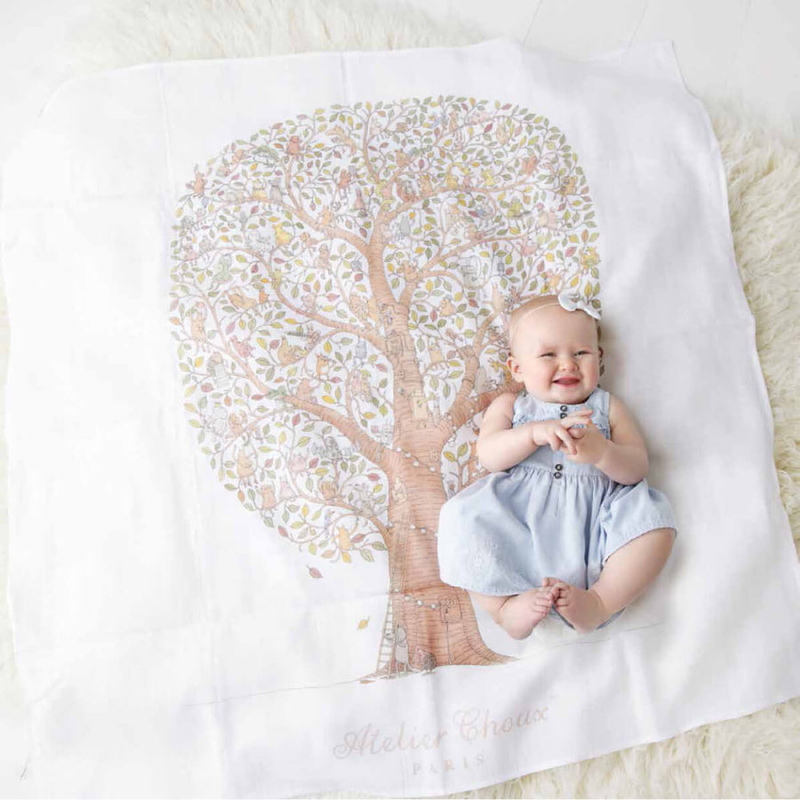 Friends & Family Tree - Swaddle (Carré) by Atelier Choux