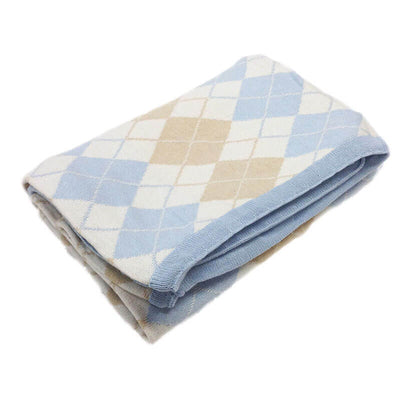 Argyle Blue - Blanket by Branberry