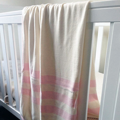 Triple Stripe Pink - Blanket by Branberry