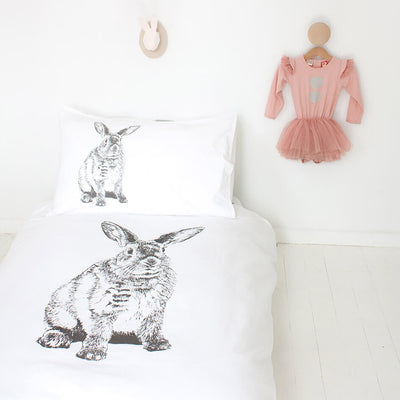 Mr Hopkins - Cot Doona Cover by Burrow and Be