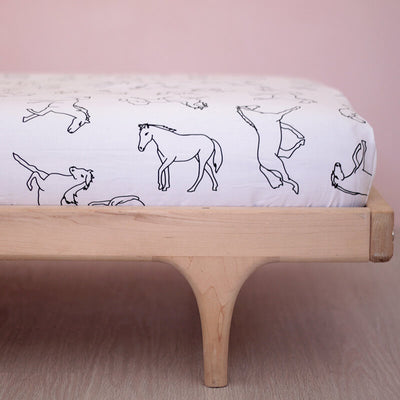 Horse - Cot Sheet by Burrow and Be