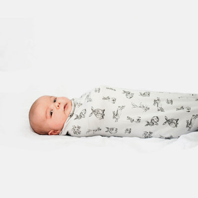 Burrowers Grey - Swaddle by Burrow and Be