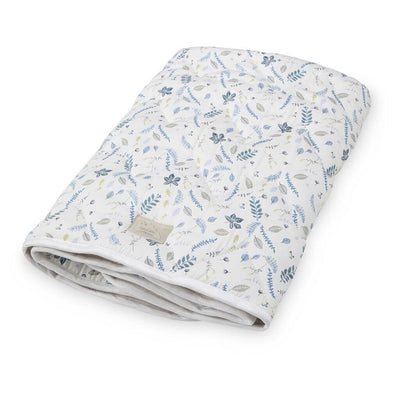 Pressed Leaves Blue - Baby Blanket by Cam Cam Copenhagen