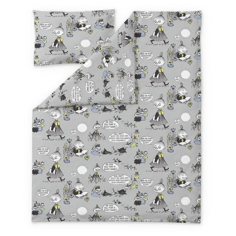 Vekara Moomin Grey - Single Doona Cover Set by Finlayson