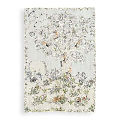 Enchanted Forest - Reversible Quilted Baby Blanket by Forivor