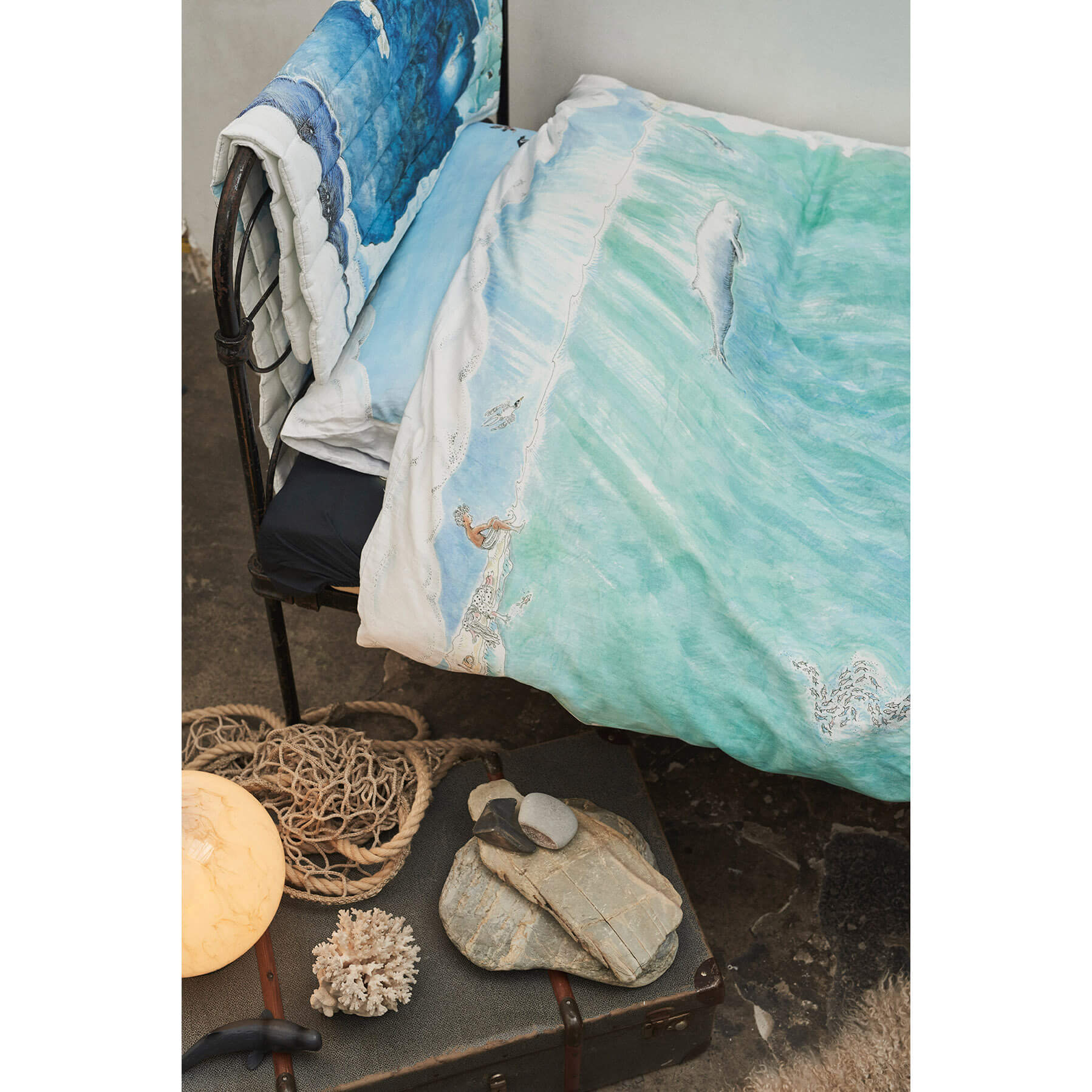 Legends Of The Sea Reversible Cot Single Doona Cover