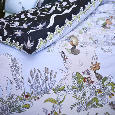 Enchanted Forest - Reversible Cot / Single Doona Cover Set by Forivor