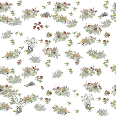 Hidden Foxes - Cot Sheet by Forivor