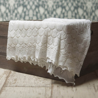 Elegant Soft Wool - Baby Blanket / Shawl by G H Hurt and Son