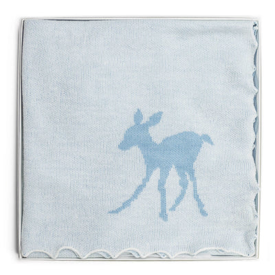 Baby Fawn Blue - Blanket / Shawl by G H Hurt and Son