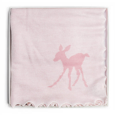 Baby Fawn Pink - Blanket / Shawl by G H Hurt and Son