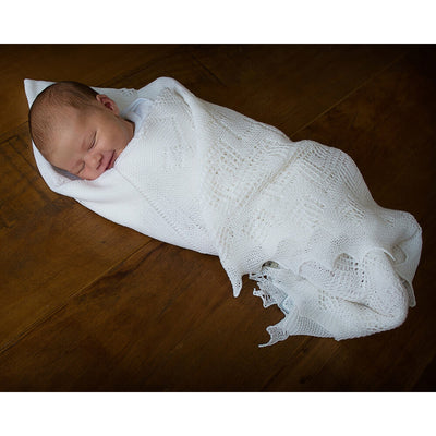 Superfine Merino Wool - Baby Blanket / Shawl by G H Hurt and Son