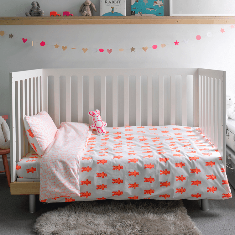 Bunny Rabbit - Cot Doona Cover Set by Lulu and Nat