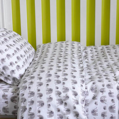 Elephant - Cot Doona Cover Set by Lulu and Nat