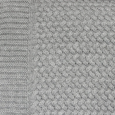 Knitted Cable Grey - Blanket by Mies and Co