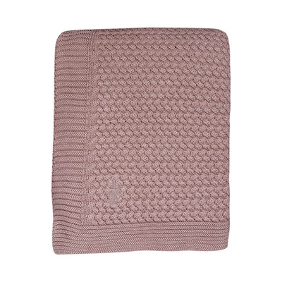 Knitted Cable Pink - Blanket by Mies and Co