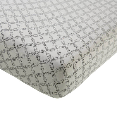 Geo Circles - Cot/Bassinet Sheet by Mies and Co