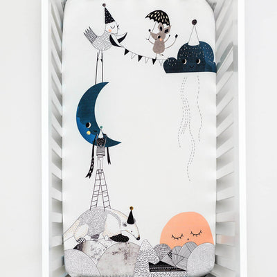 The Moon's Birthday - Cot / Bassinet Sheet by Rookie Humans