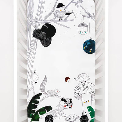 Woodland Dreams - Cot Sheet by Rookie Humans
