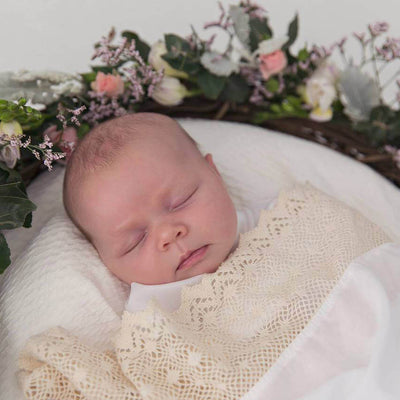 Heirloom White - Swaddle by Tilly and Otto
