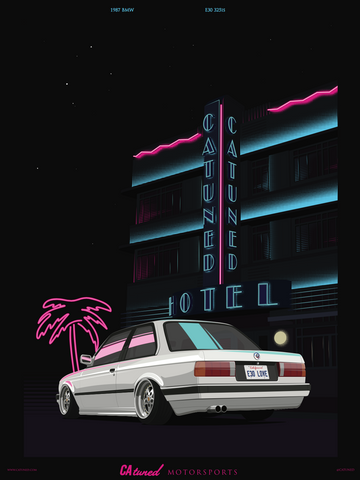 CATUNED 80S BMW E30 Poster 18X24
