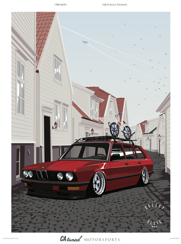 CATUNED E28 BMW Touring / SCHULZ Poster 18x24