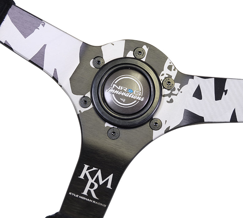NRG Innovations Kyle Mohan Suede Deep Dish 350mm Steering Wheel RST-036MB-S-KMR